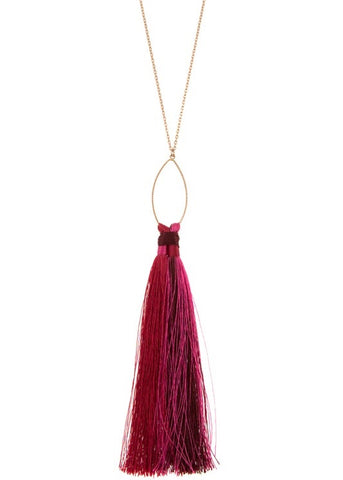 Two Tone Tassel Necklace