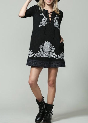Nisha Embroidered Dress