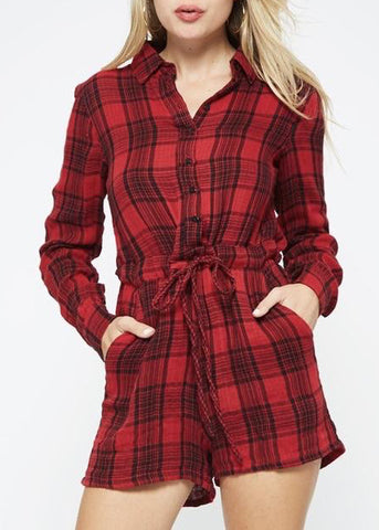 Rayne Plaid Romper