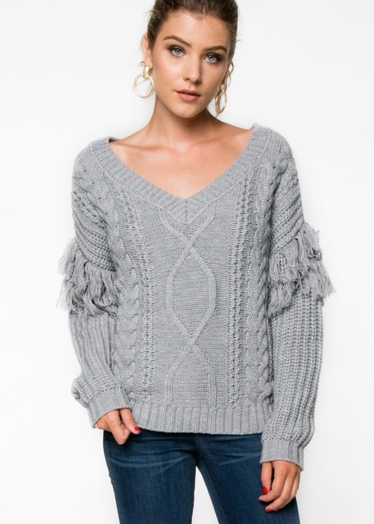 Fringe Benefits Sweater