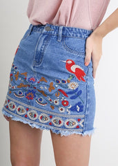 Evie Denim Skirt - Blue