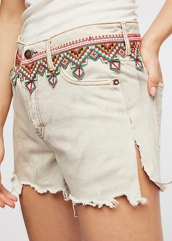 Evie Denim Skirt - White