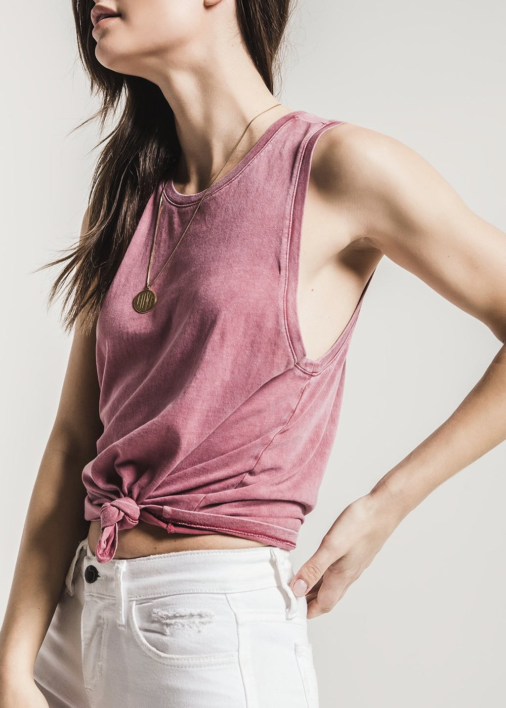 The Washed Cotton Muscle Tank