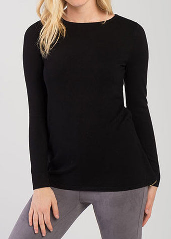 Zipper Back Detail Sweater
