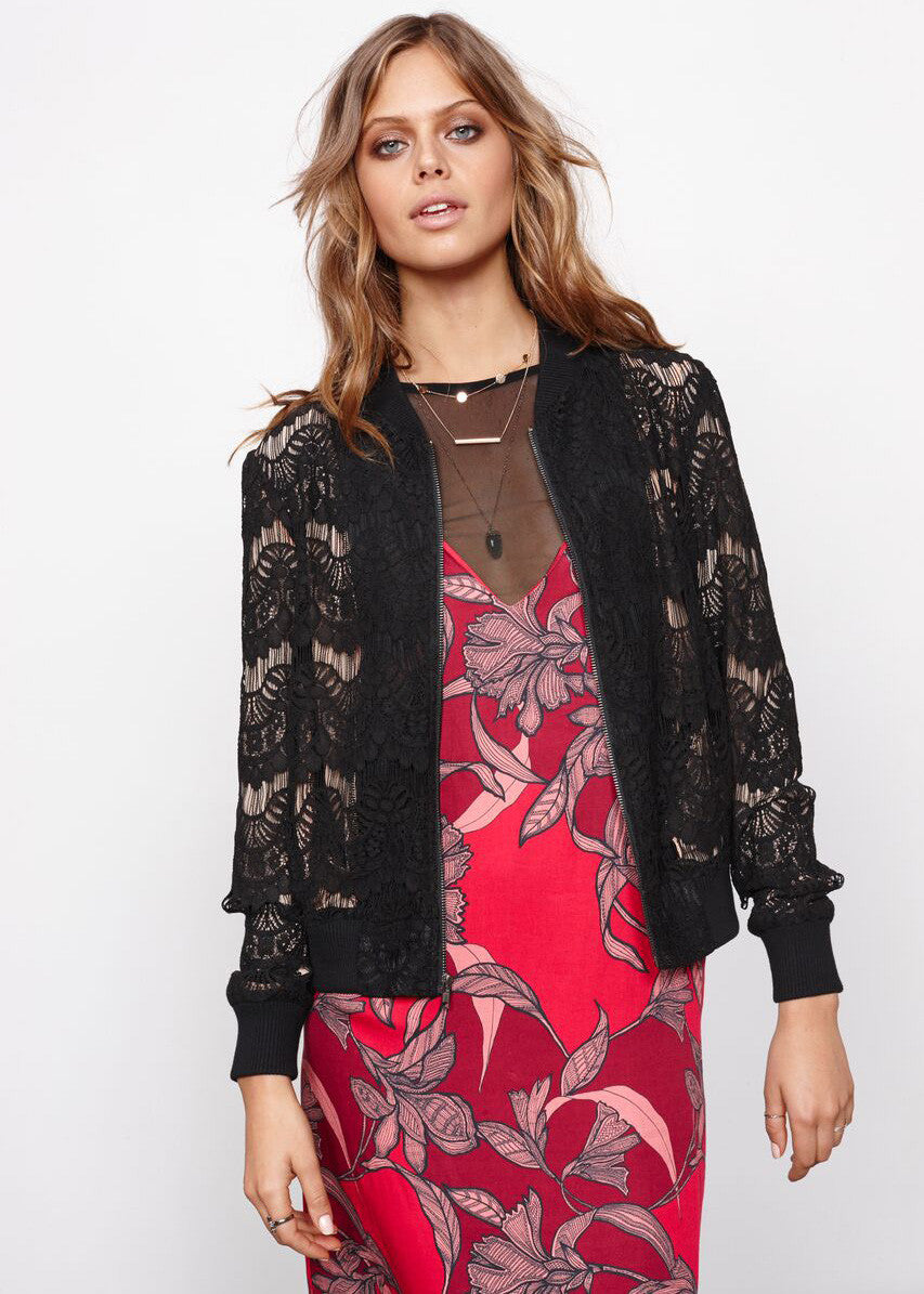 Drama Queen Lace Bomber