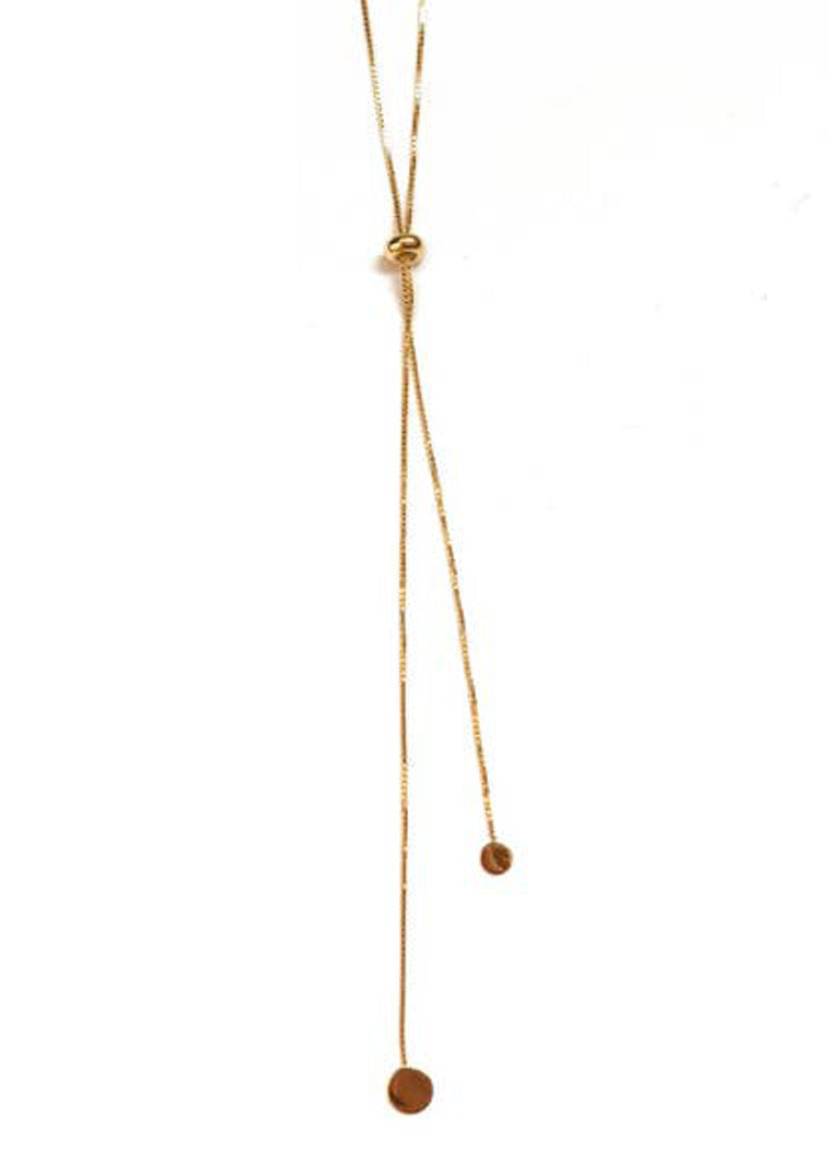 Louise Slider Lariat Necklace