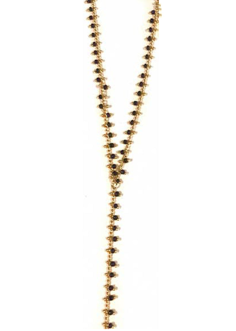 Mini Beaded Lariat Necklace
