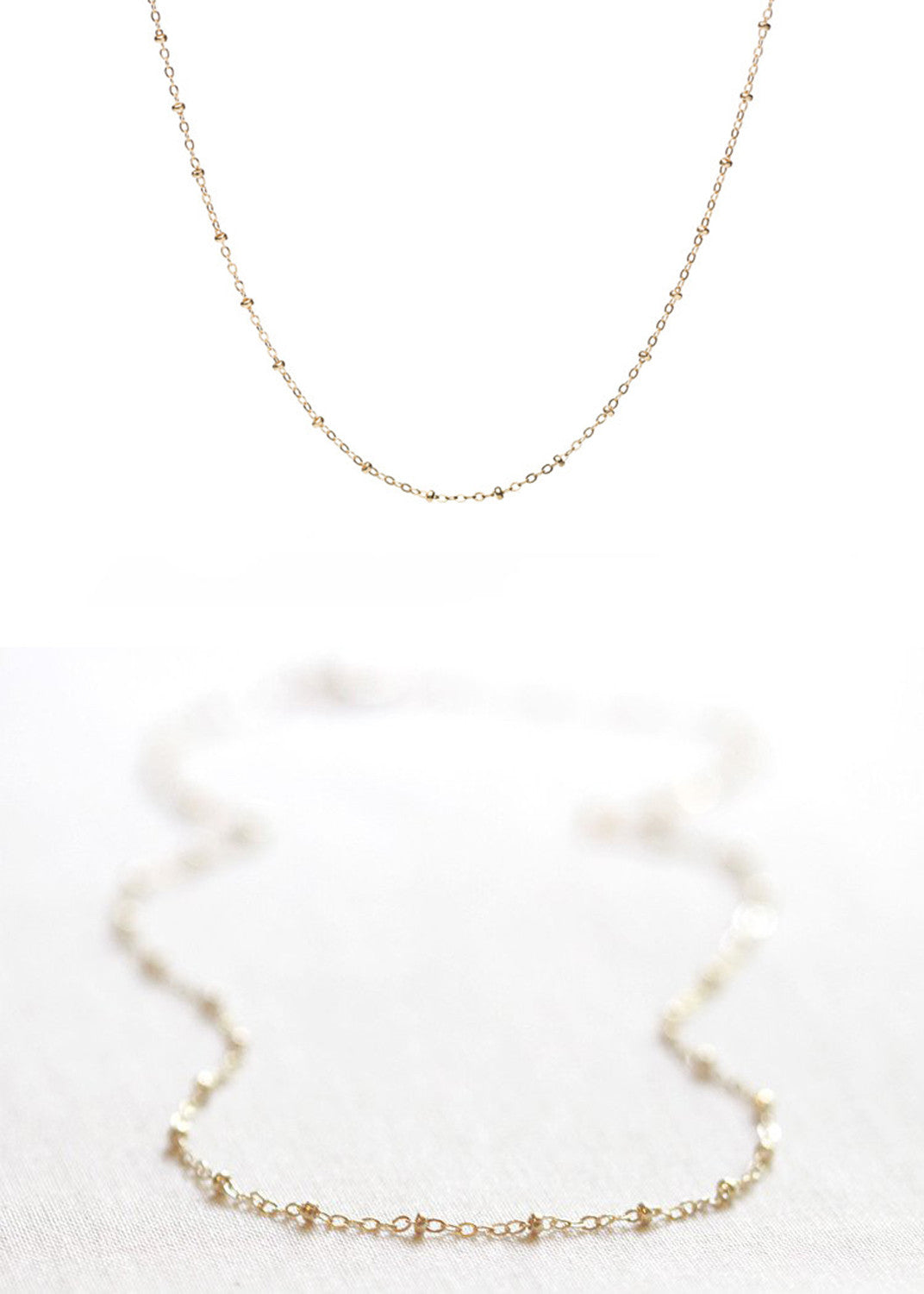 Gold Satellite Necklace | 20 in