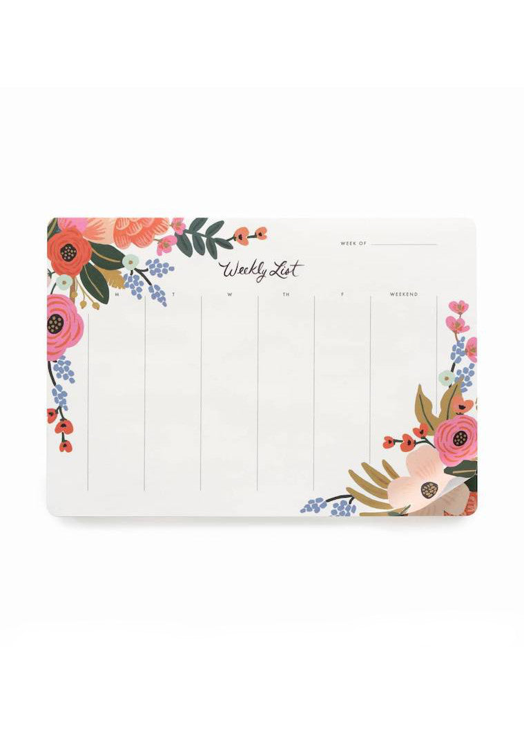 Lively Weekly Desk Pad