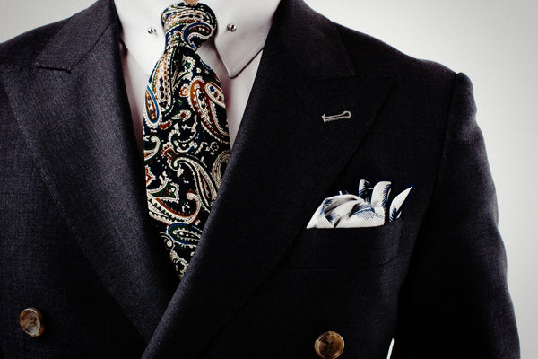 Four Fifty Five paisley tie