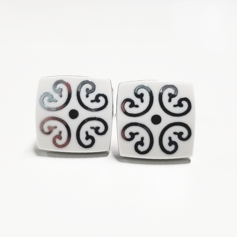 White Filigree Cufflinks