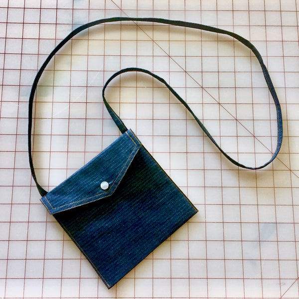 Herringbone Postal Pearl Snap Bag