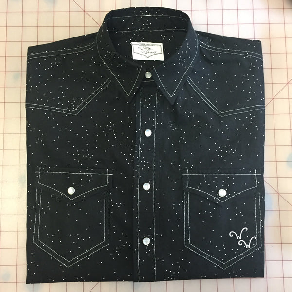 Sprinkle in Black Cat Men's Western Shirt