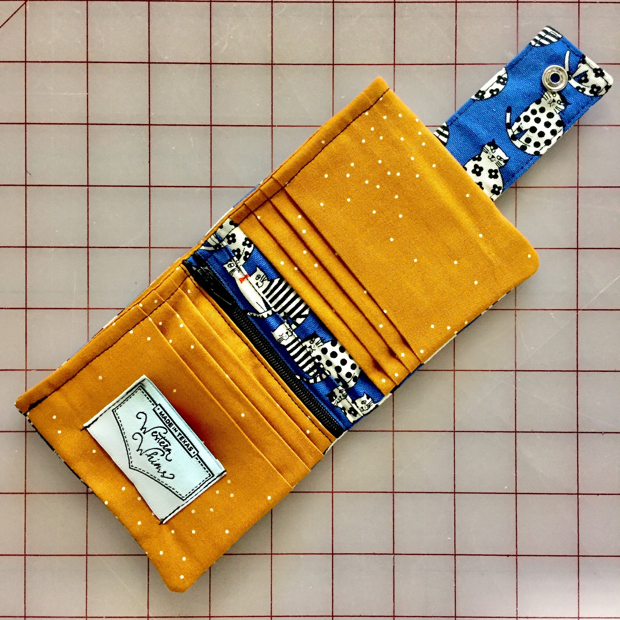 Dapper Kitty Bi-fold Wallet