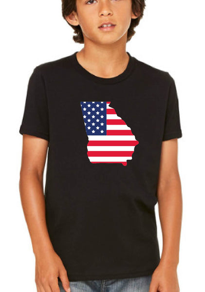 Youth State American Flag Short Sleeve T-Shirt