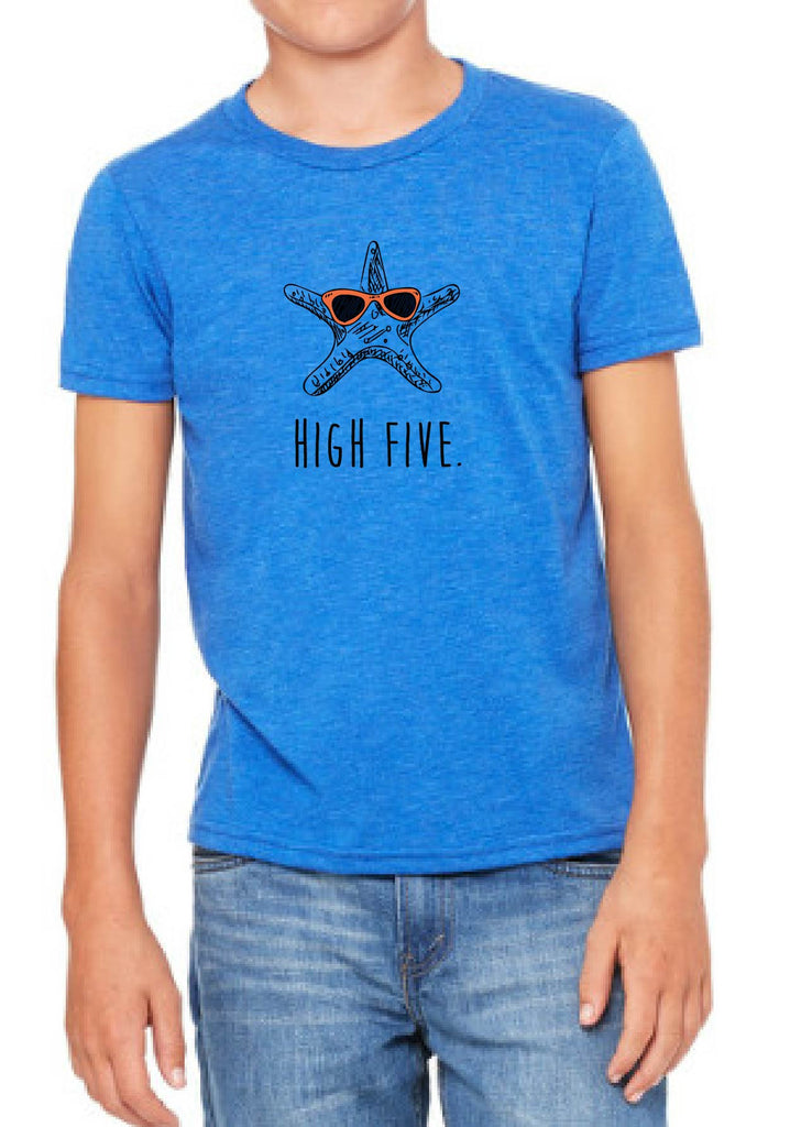 "Youth ""High Five"" Starfish Short Sleeve T-Shirt"