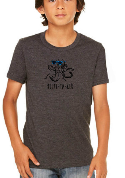 "Youth ""Multi-tasker"" Octopus Short Sleeve T-Shirt"