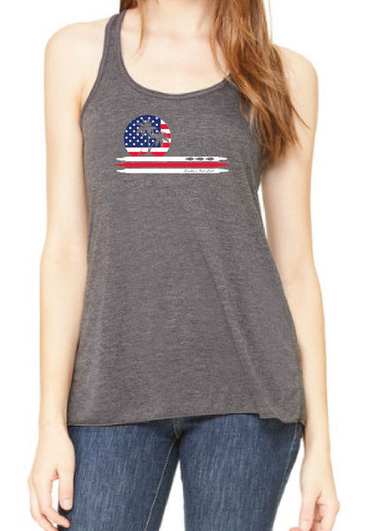 Women's American Flag Smitty's Fish Calls Tank