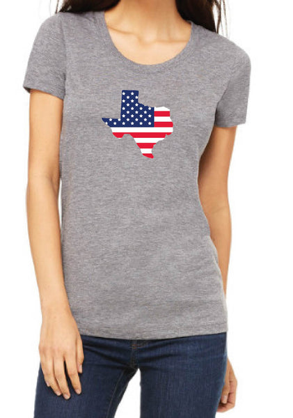 Women's State American Flag Short Sleeve T-Shirt