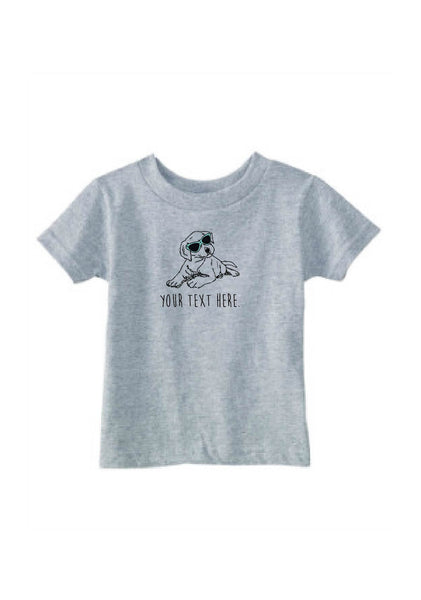 Customizable Toddler Puppy Short Sleeve T-Shirt