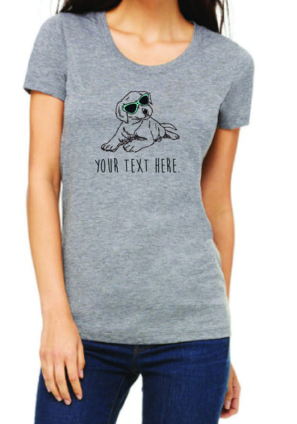 Customizable Women's Puppy Short Sleeve T-Shirt