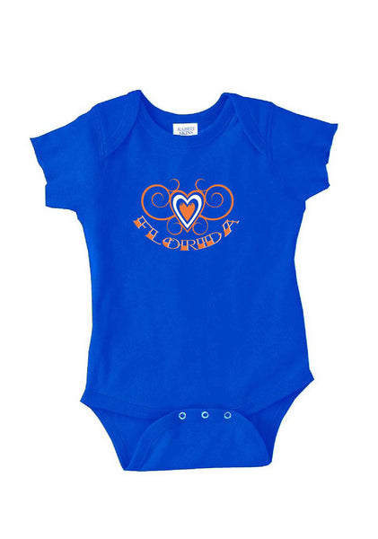 Infant Florida Heart Design Onesie