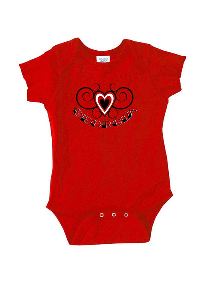 Infant Georgia Heart Design Onesie