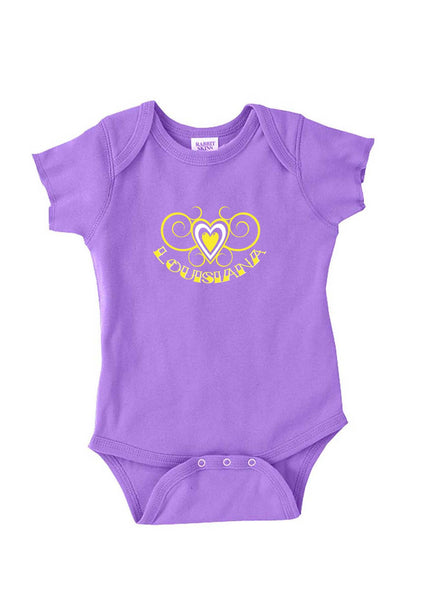 Infant Louisiana Heart Design Onesie