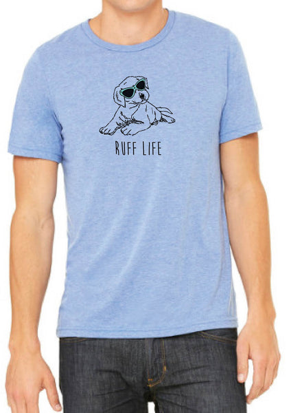 "Men's ""Ruff Life"" Puppy Short Sleeve T-Shirt"