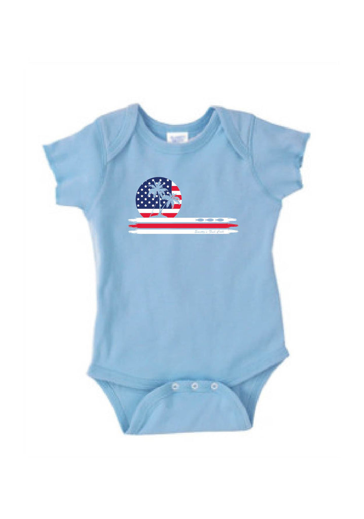 Infant American Flag Smitty's Fish Calls Onesie