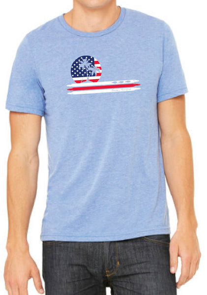 Men's American Flag Smitty's Fish Call Short Sleeve T-Shirt