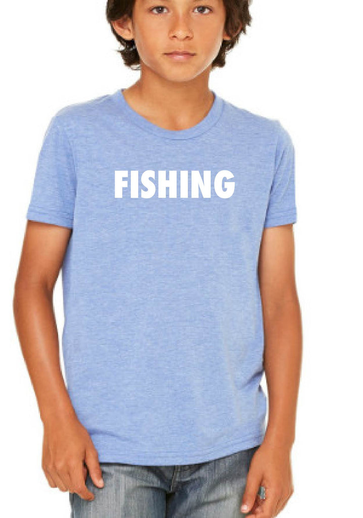 "Youth ""Fishing"" Short Sleeve T-Shirt"