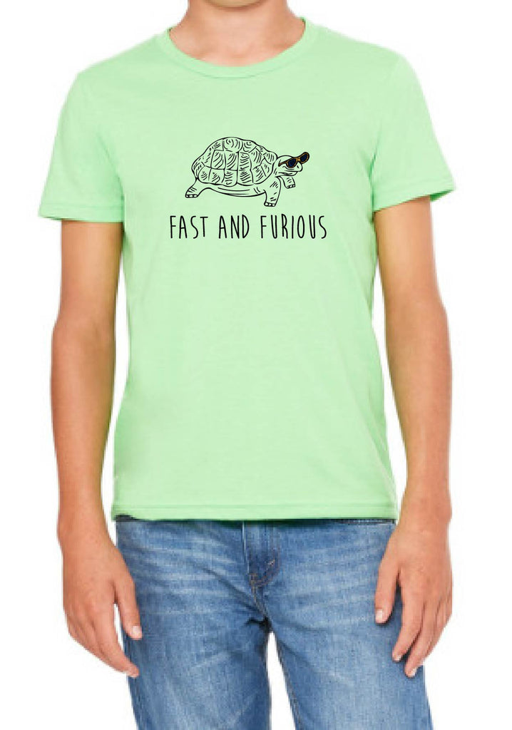"Youth ""Fast and Furious"" Turtle Short Sleeve T-Shirt"
