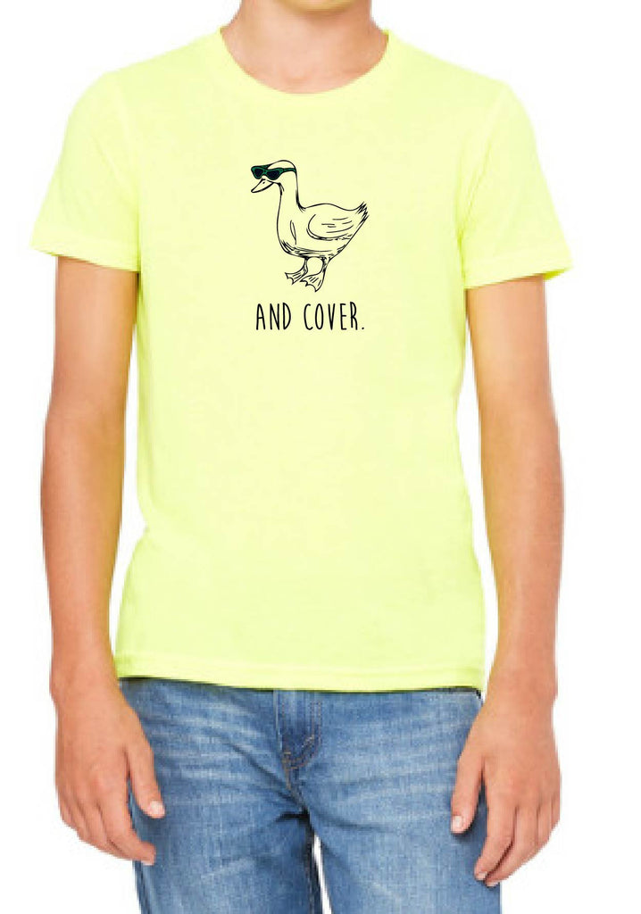 "Youth ""And Cover."" Duck Short Sleeve T-Shirt"