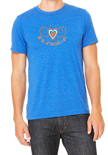 Men's Florida Heart Design Short Sleeved T-Shirt