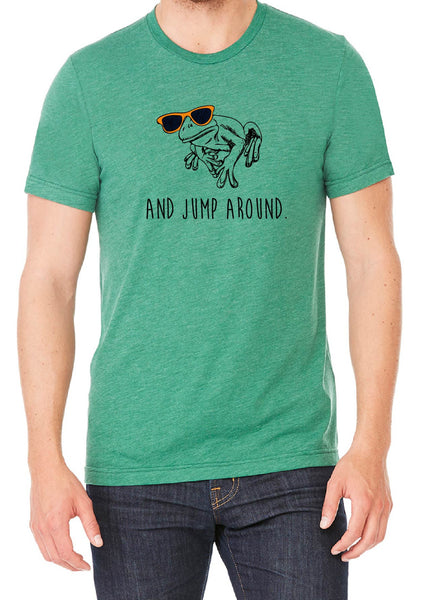 "Men's ""And Jump Around"" Frog Short Sleeved T-Shirt"