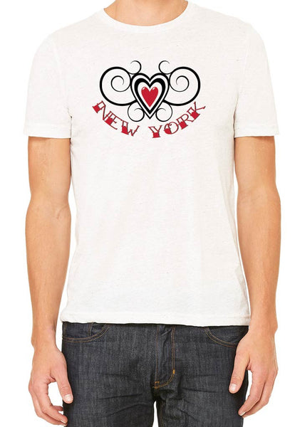 Men's State Heart Design Short Sleeve T-Shirt