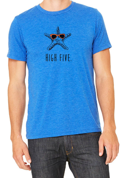 "Men's ""High Five"" Star Fish Short Sleeved T-Shirt"