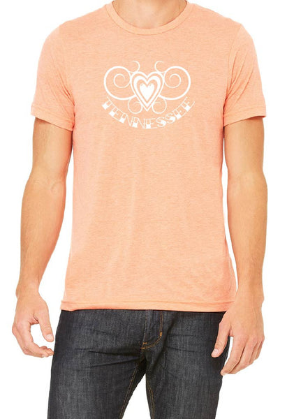 Men's Tennessee Heart Design Short Sleeve T-Shirt