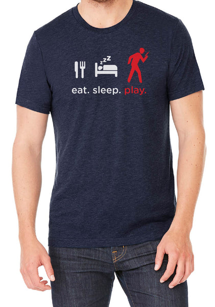 "Men's ""Eat. Sleep. Play."" Short Sleeved T-Shirt"