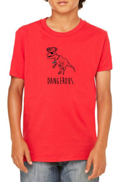 "Youth ""Dangerous"" Dinopirate Short Sleeve T-Shirt"