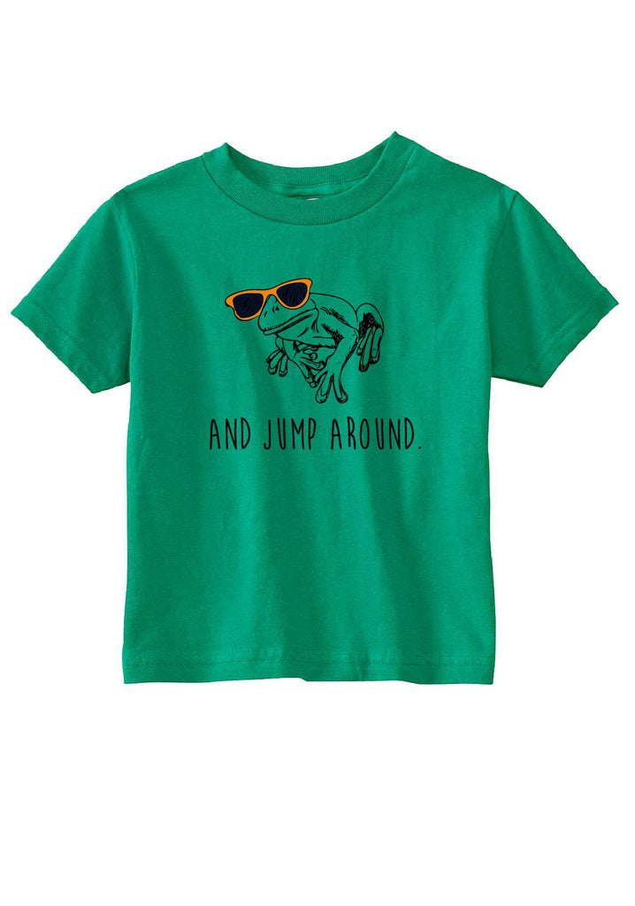 "Toddler ""And Jump Around"" Frog Short Sleeved T-Shirt"