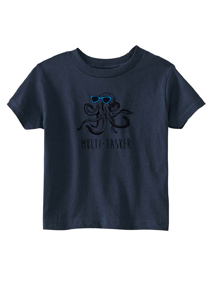 "Toddler ""Multi-Tasker"" Octopus Short Sleeved T-Shirt"
