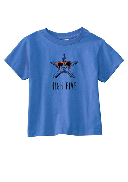 "Toddler ""High Five"" Star Fish Short Sleeved T-Shirt"