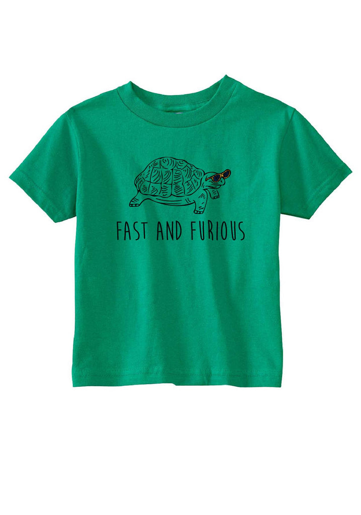 "Toddler ""Fast And Furious"" Turtle Short Sleeved T-Shirt"