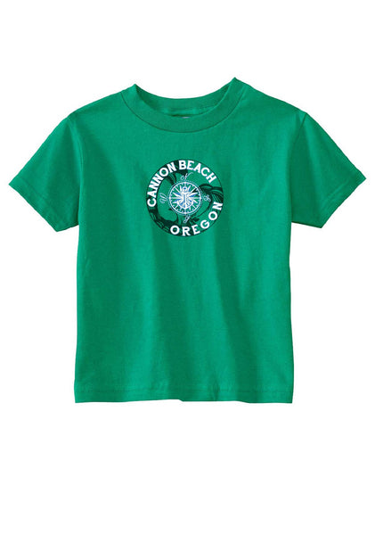 Toddler Canon Beach Oregon Short Sleeved T-Shirt