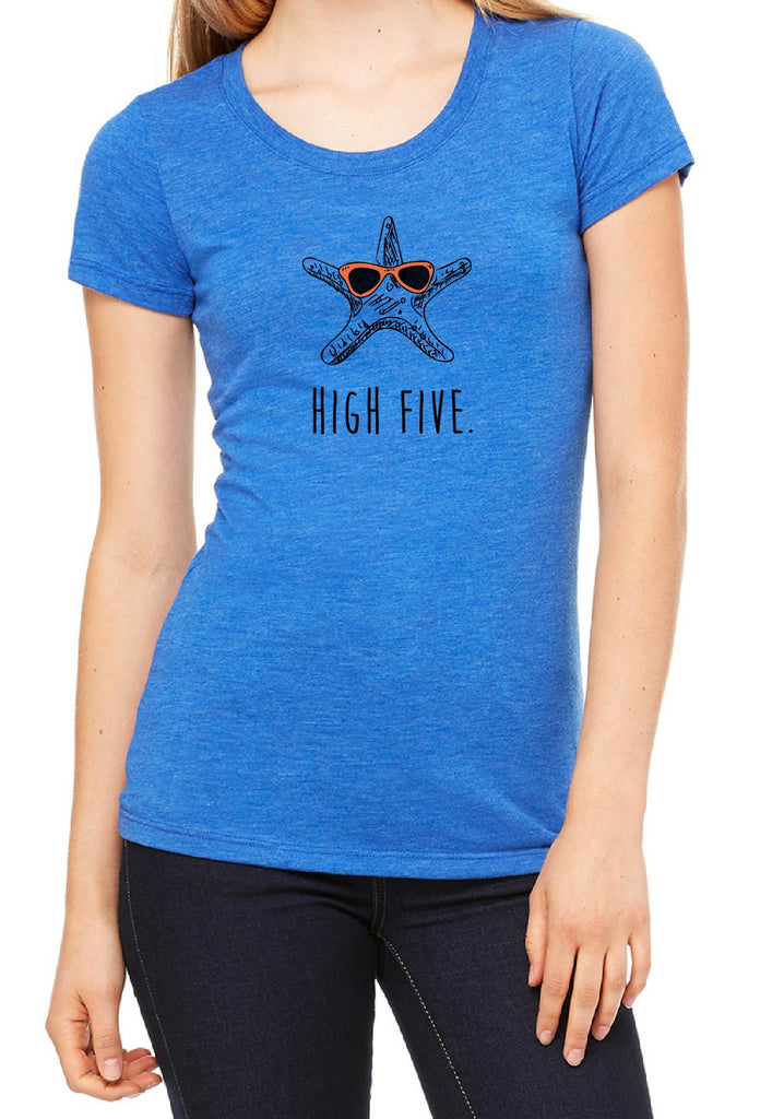 "Women's ""High Five"" Starfish Short Sleeved T-Shirt"