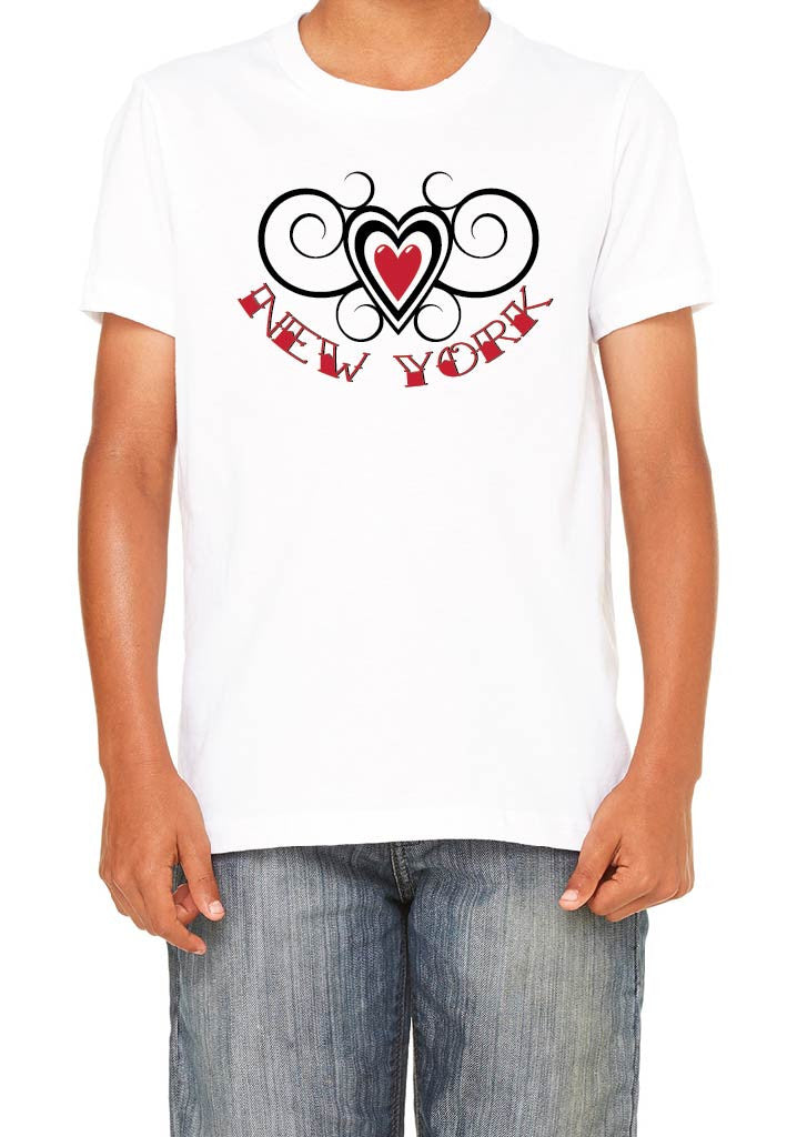 Youth State Heart Design Short Sleeve T-Shirt