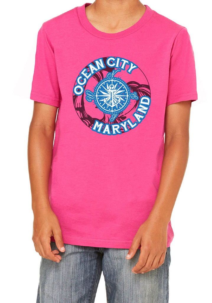 Youth Ocean City Maryland Short Sleeved T-Shirt