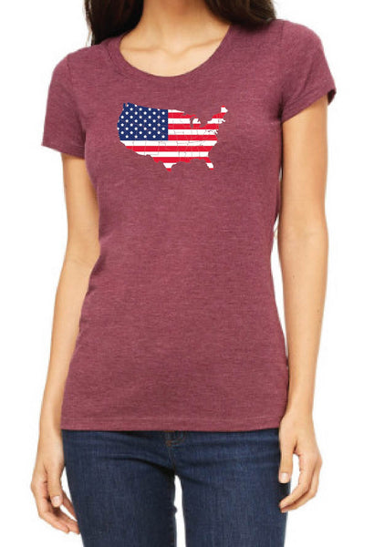 Women's UNITES STATES Short Sleeve T-Shirt